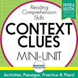 Context Clues Passages, Worksheets and Graphic Organizers