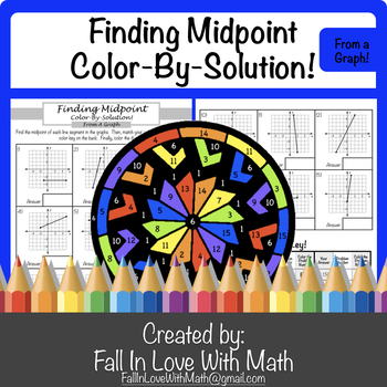 Finding Midpoint (of a line segment) Color-By-Number!