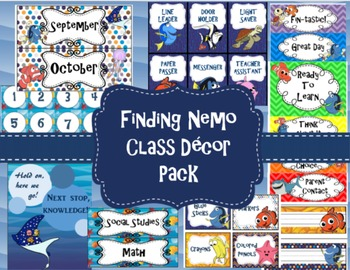 Finding Nemo/ Dory Classroom Decor Pack
