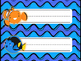 Finding Nemo/Dory Desk Nameplates {Bright Waves & Stripes}