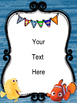 Finding Nemo/Dory Theme Portrait Classroom Posters {EDITABLE}