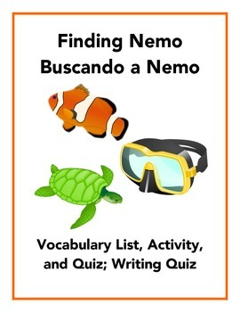 Finding Nemo: Spanish Vocabulary and Writing Activity (Pre