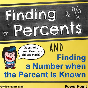 Finding Percents and Numbers when the Percent is Known (Po