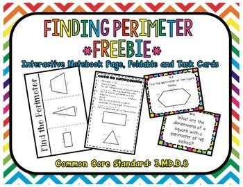 Finding Perimeter FREEBIE Common Core Standard: 3.MD.D.8