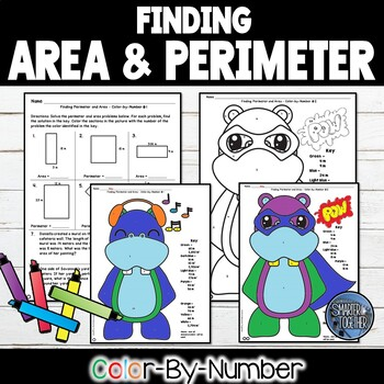 Finding Perimeter and Area Color by Number