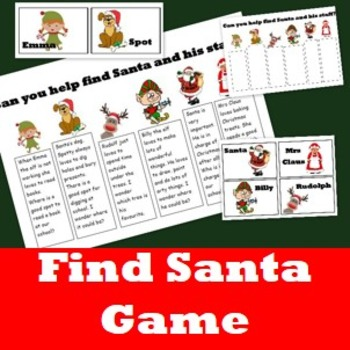 Finding Santa Game- A fun and engaging Christmas Game for