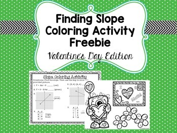 Finding Slope Coloring Activity Freebie - Valentine's Day Edition