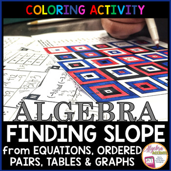 Finding Slope Granny Squares Coloring Activity