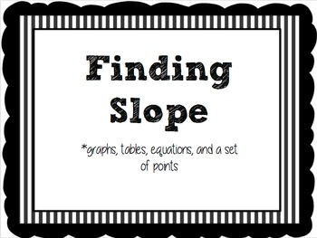 Finding Slope (Stations)