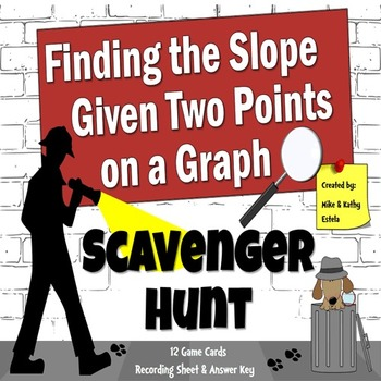 Finding the Slope of Two Points on a Graph - Scavenger Hun