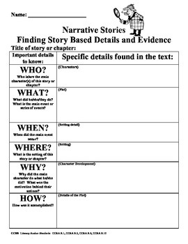 Finding Text Based Evidence Literary Text