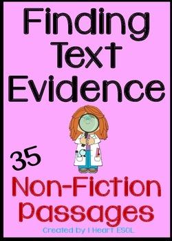 Nonfiction Passages- Finding Text Evidence 35 Passages