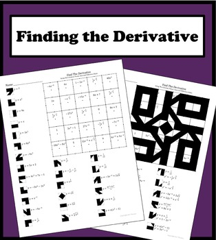 Finding The Derivative Color Worksheet #1