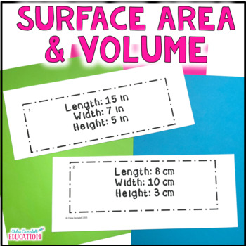 Finding Volume and Surface Area of Rectangular Prisms - Di