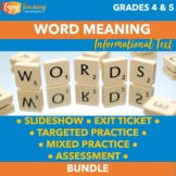 Finding Word Meaning Unit RI.4.4 RI.5.4