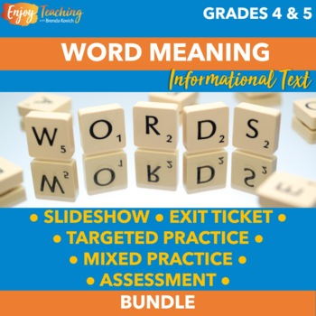 Finding Word Meaning Bundle - Third and Fourth Grade Infor