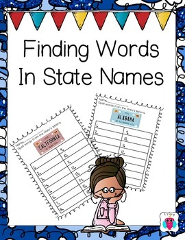 Finding Words in State Names