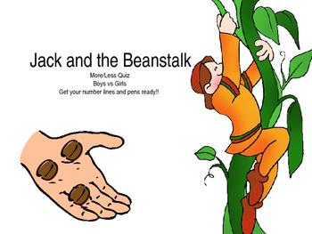Finding one more/less: Jack and the Beanstalk