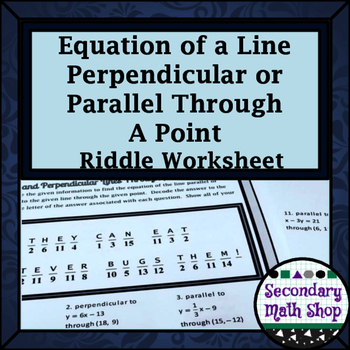 Finding the Equation of Line Parallel or Perpendicular Thr