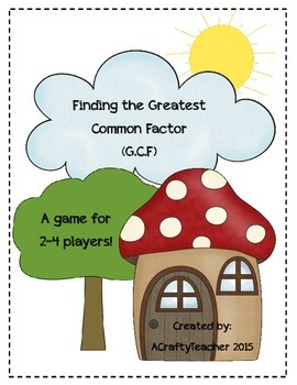Finding the Greatest Common Factor File Folder Game
