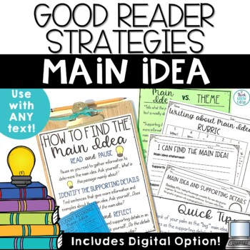Finding the Main Idea Activities and Task Cards