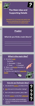 Finding the Main Idea Power Point (Free Student Cornell No