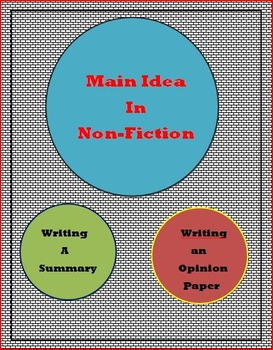 Finding the Main Idea in Non-Fiction