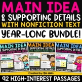 Finding the Main Idea with Non-Fiction Text - Year Long Bundle
