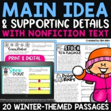 Finding the Main Idea with Non-Fiction Texts - Winter Edition