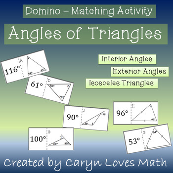 Missing Angles in Triangles~5 Sets of Matching Dominos