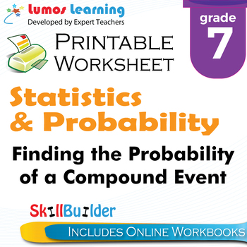 Finding the Probability of a Compound Event Printable Work