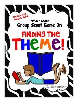 Finding the Theme Group Scoot Game (3rd-5th grades)