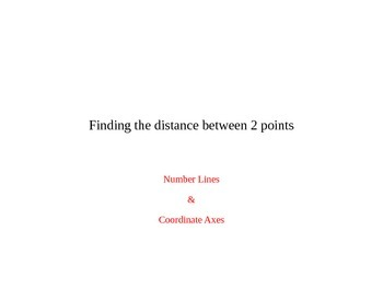 Finding the distance between 2 points (vertically and hori