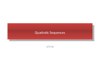 Finding the nth term for any Quadratic sequence