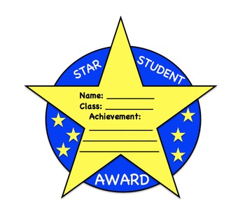Star Student Award Template