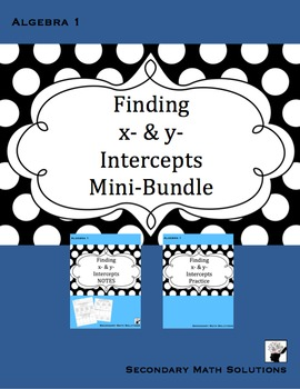 Finding x- & y-Intercepts Mini-Bundle