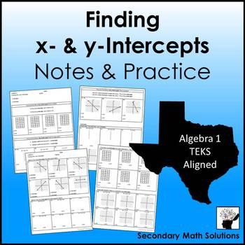 Finding x- & y-intercepts Practice