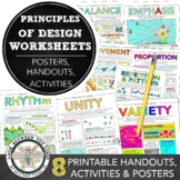 Principles of Design Worksheet Packet: 9 Instructional Han
