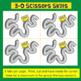 Fine Motor: 3-D Advanced Scissors Skills (Transportation Themed)
