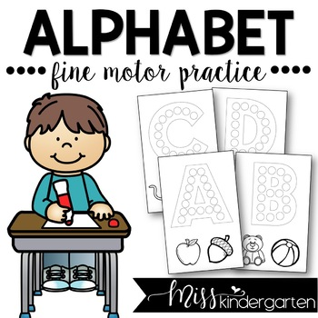 Fine Motor Alphabet Letters {upper and lowercase}