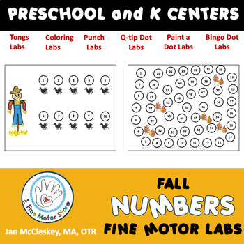 Autism and Special Needs:  Number Sequencing - Fall and Fa