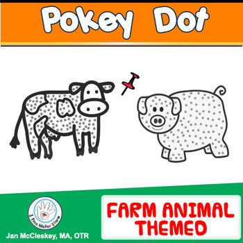 Fine Motor: FARM ANIMAL  POKE ART