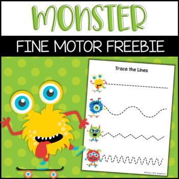 Fine Motor Monster Tracing Lines | Preschool