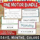 Fine Motor OT Activities BUNDLE: Days of the Week & Months