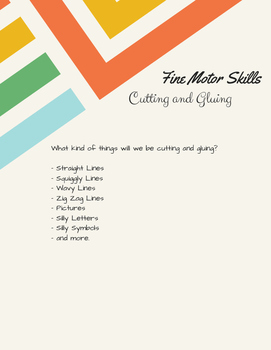 Fine Motor Skills: Cutting and Gluing