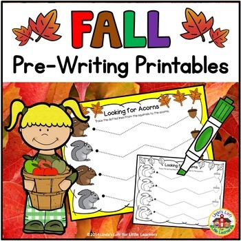 Fall Pre-Writing Printables