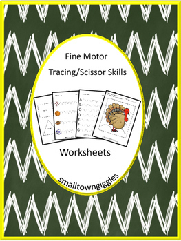 Fine Motor Skills Tracing/Scissors Skills Worksheets,Math