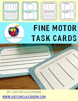 Autism, Special Education, Kindergarten- Fine Motor Task Cards