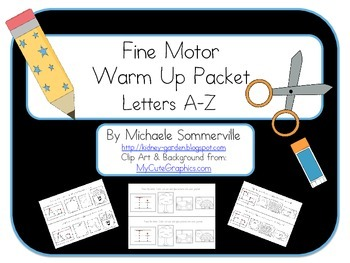Fine Motor Warm Up Pack: Letters A-Z