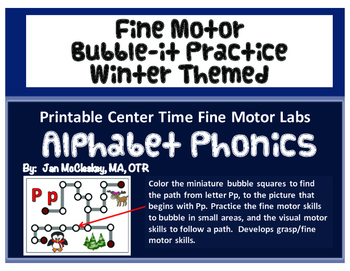 Fine Motor:  Winter Themed Bubble - it Activities for Phonics